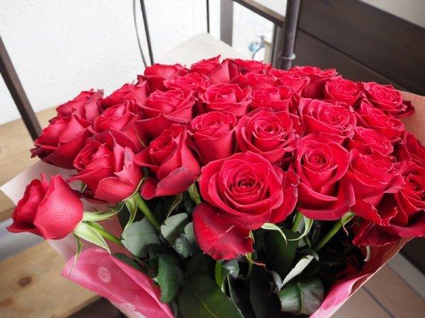 画像1: お色が選べるバラの花束【30本】 (1)